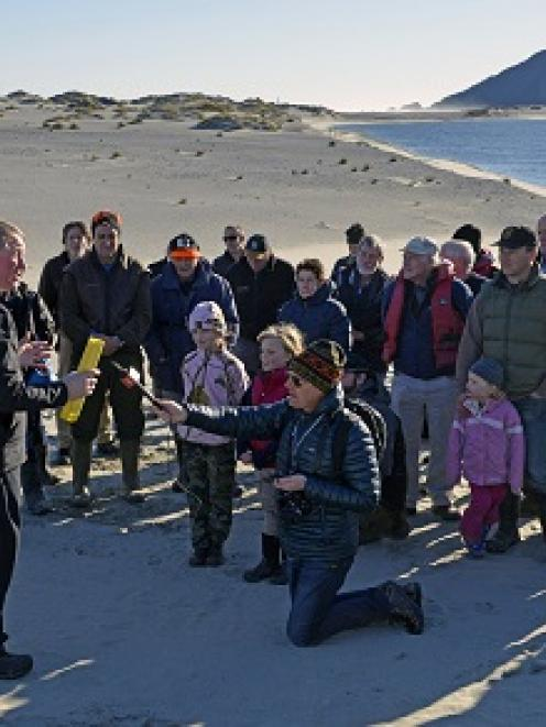 Conservation Minister Dr Nick Smith addresses trustees and supporters of the Hollyford...