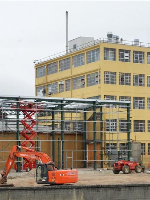 Construction at Cerebos Greggs in Dunedin. Photo by Gerard O'Brien.