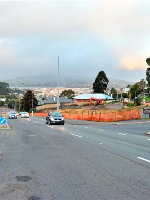 Contractors have discovered a large hole underneath part of the Caversham highway development,...