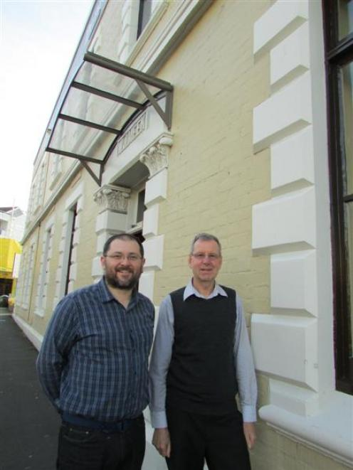 Council of Social Services Dunedin executive officer Alan Shanks (right) and Community Support...