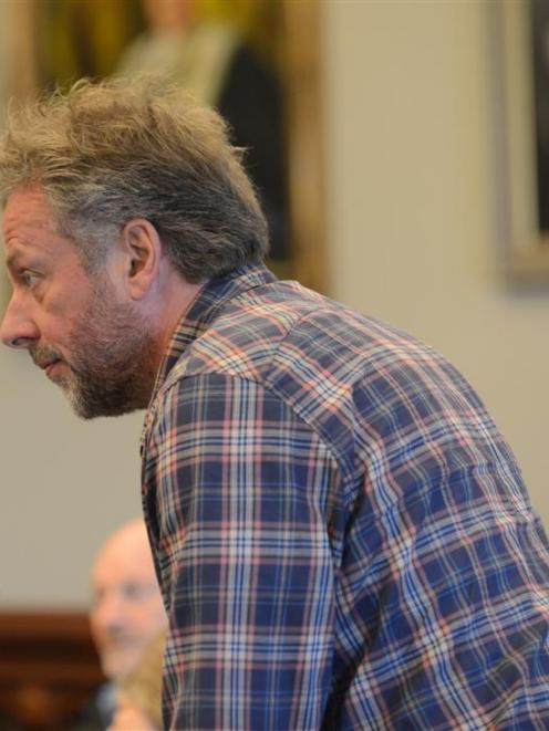 Cr Lee Vandervis makes a point at yesterday's Dunedin City Council economic development committee...