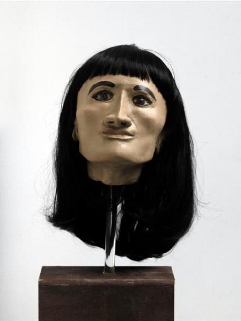 Created through the use of CT scans and computer technology, this model shows the face of a 2300...