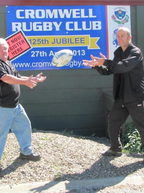 Cromwell Rugby Club president Allan ''Cammy'' Campbell and Otago Polytechnic sports turf...