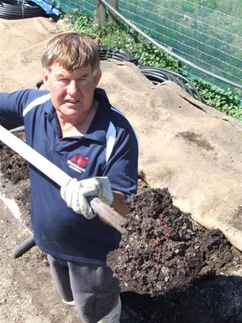 Cromwell worm farmer Robbie Dick has commissioned laboratory tests on sewage sludge from the...