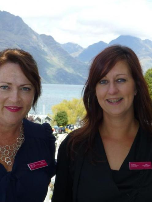 Crowne Plaza Queenstown's new sales and marketing manager Kylie Walker (left)  with  new meetings...