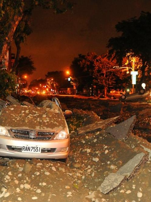 Damage to a car gives an indication of the extent of the blast. REUTERS/Stringer