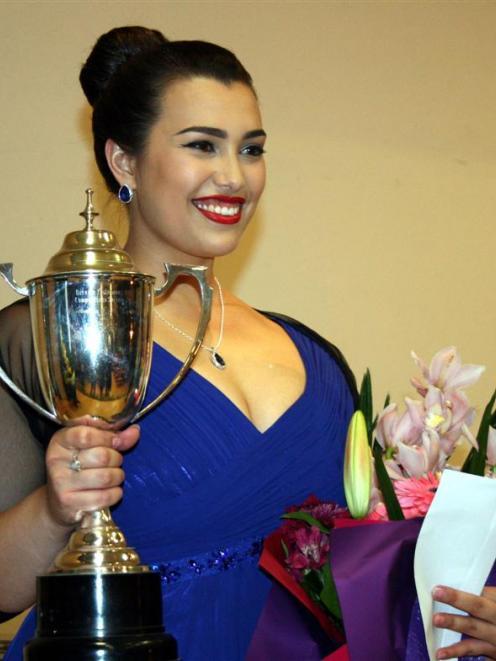 Dame Malvina Major Foundation Aria Competition winner soprano Isabella Moore. Photo supplied.