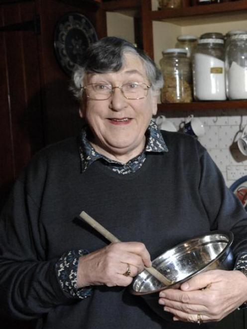 Dame Pat Harrison in her kitchen. Photo by Linda Robertson.