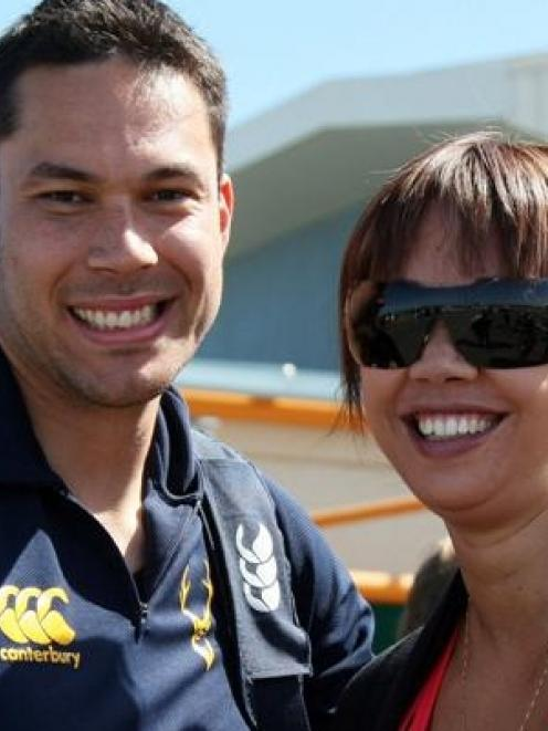 Daneka Wipiiti (right) pictured with her partner, Southland and Highlanders rugby player Joe...