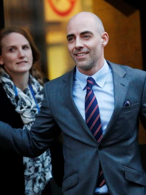 Daniel Evans leaves the Old Bailey courthouse after giving evidence in London. REUTERS/Suzanne...