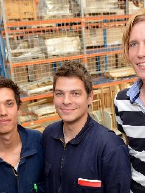 Danish engineering students Peder Skovlunden-Pedersen, Tim Riis Tolman, Dan Skov Rasmussen and...