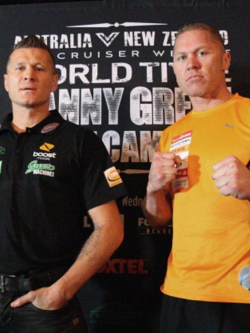 Danny Green (left) of Australia and Shane Cameron of New Zealand will meet in an IBO title bout...