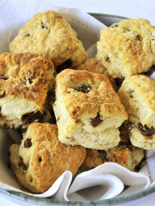 Date scones. Photo by Gerard O'Brien