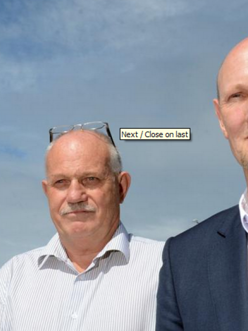 Dave Macpherson (left) and Ewan Wilson of Kiwi Regional Airlines, pictured at Dunedin...