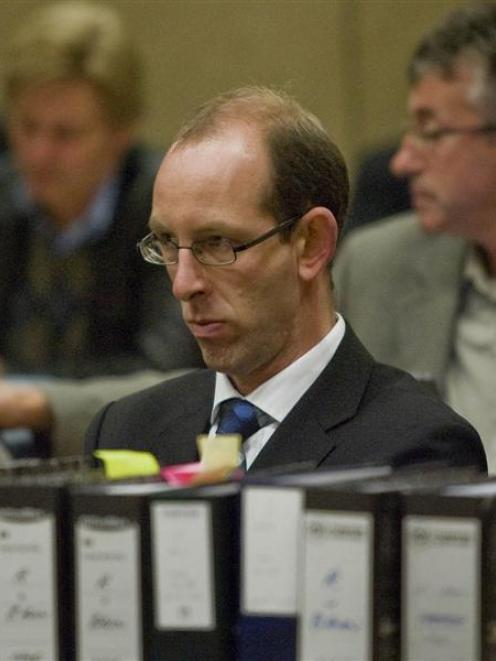 David Bain at his retrial in the High Court, Christchurch, on Wednesday. Pool Photo.