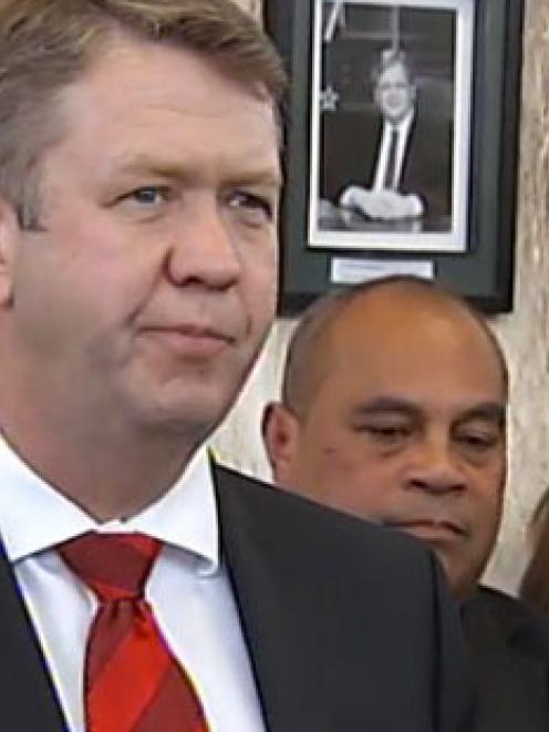 David Cunliffe, making his announcement today. Photo By NZ Herald