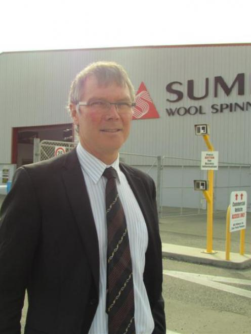 David Parker outside the Summit Wool Spinners plant in Oamaru. Photo by Andrew Ashton.