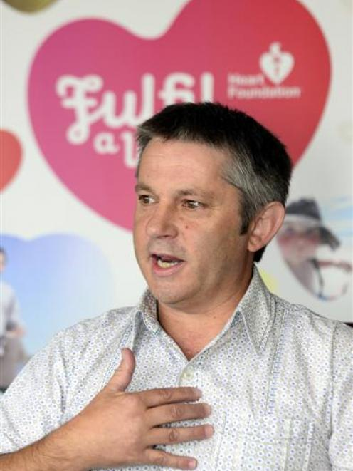 David Rutherford wants people to have a cardiovascular check before it's too late. Photo by Peter...