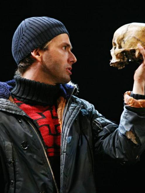 David Tennant as Hamlet. Photo Royal Shakespeare Company, Ellie Kurttz/AP.
