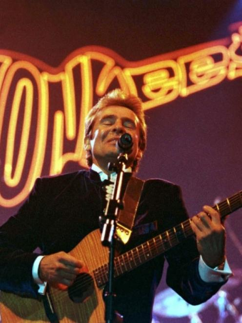 Davy Jones performs at the Newcastle Arena in this March 1997 file photo. Jones, former lead...
