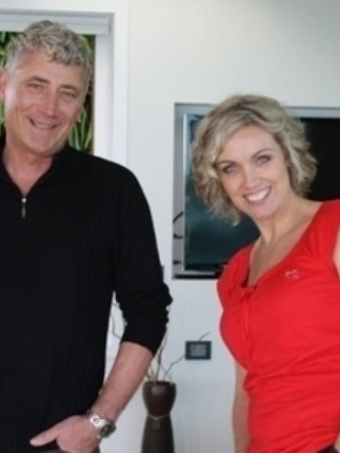 Dean Wyllie with Kiwi Dream Home host Evie Ashton.