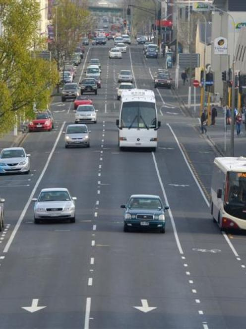 Proposed cycle lanes would result in car parks being removed from Dunedin's central one-way system.