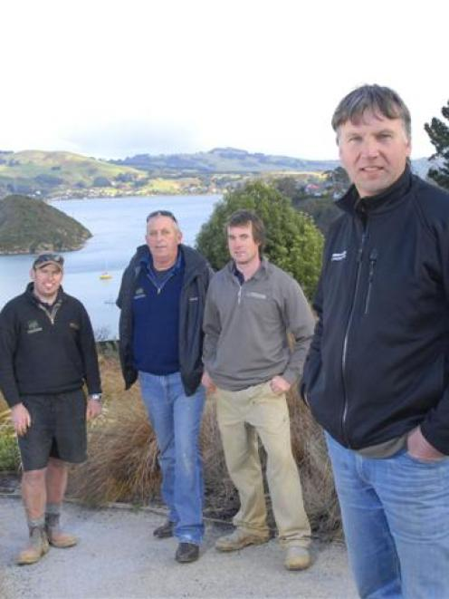 Design and Garden Landscapes Ltd staff (from left) Grant Wassell, Paul Gillies, Andrew Rae and...