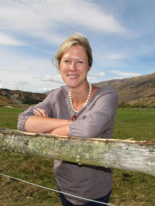 Desiree Reid (35), owner of Zescent Ltd, on the Cardrona Valley site where she hopes to build a...