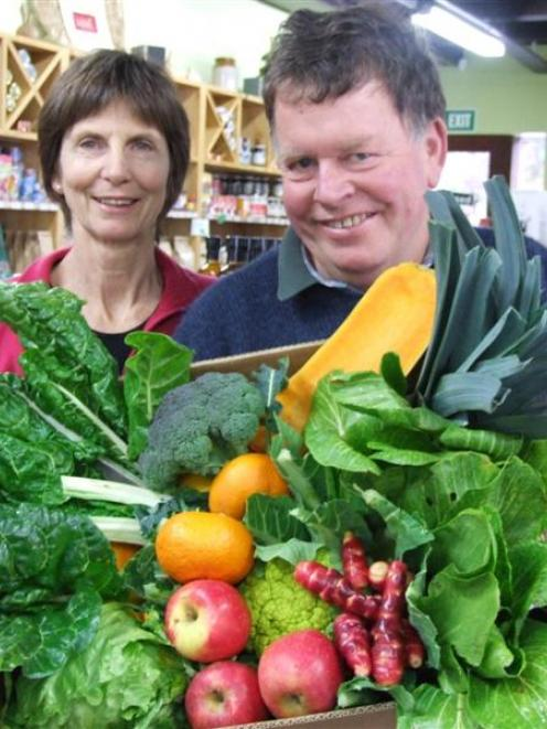 Destination Organic owners Lyn Williamson and Stu Burt are looking for people who want to try...