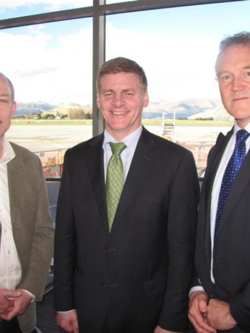 Destination Queenstown chief executive Graham Budd (left), with Deputy Prime Minister and Clutha...