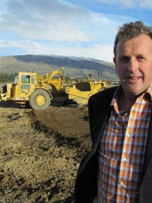 Developer Allan Dippie in the commercial centre of his new Three Parks development on the...