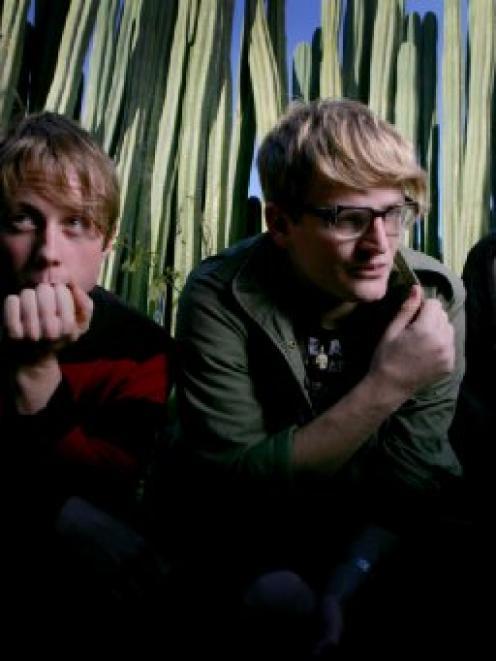 Die! Die! Die!: (from left) Michael Prain, Andrew Wilson and Lachlan Anderson. Photo by Robert...