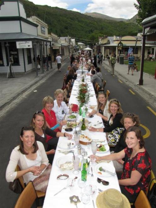 Diners enjoy last year's inaugural Arrowtown Long Lunch.  Photo by James Beech.