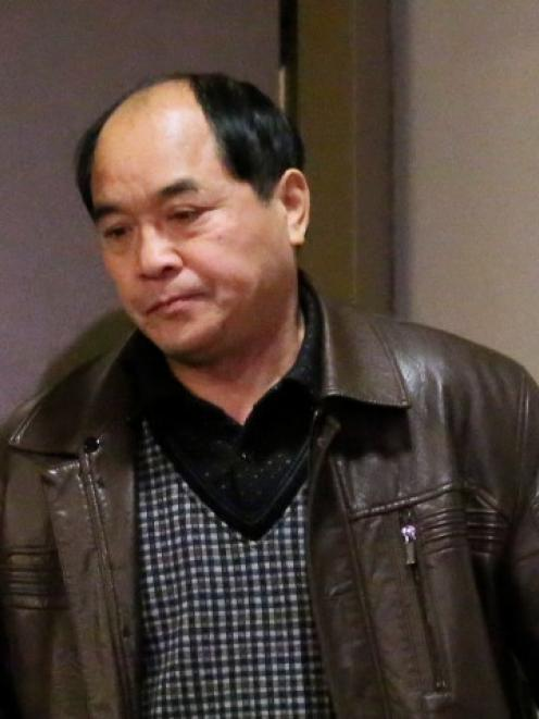 Diran Lin, father of victim Jun Lin, appeared in court for the preliminary hearing of suspect...