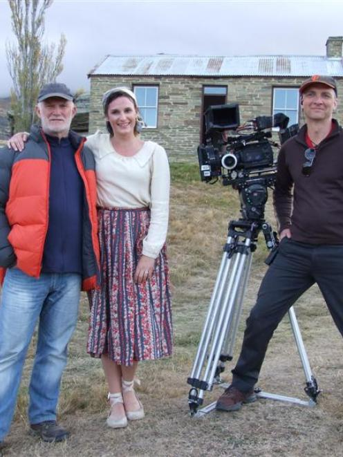 Director Mike Smith,  actress Rachael Blampied, who takes the lead role, and producer Gary Scott...