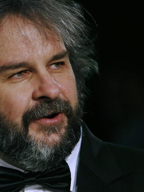 "Director Peter Jackson at the royal premiere of his film ""The Hobbit - An Unexpected Journey"" in..."
