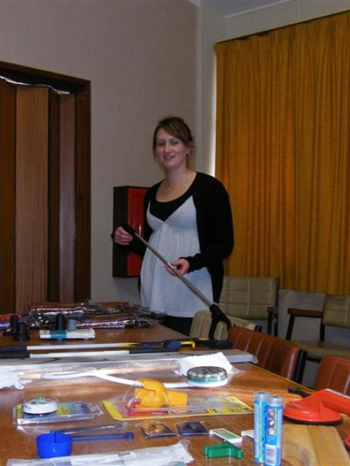 Disability Resource Centre Southland physical therapist Amy-Rae Wilson with an assortment of the ...
