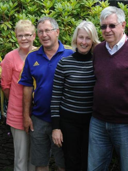 Distant relations (front left) John MacManus, Janet MacManus, Val MacManus, Brian MacManus, Ros...