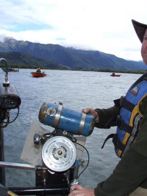 Donald Stewart readies himself for a 325km boat trip from Lake Wanaka to the Otago coast, using...
