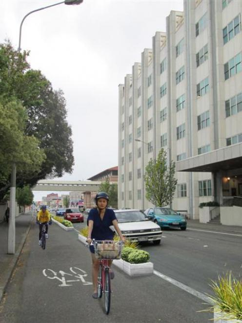 Done deal? A slice of a proposed cycleway on State Highway 1 opposite Dunedin Public Hospital....