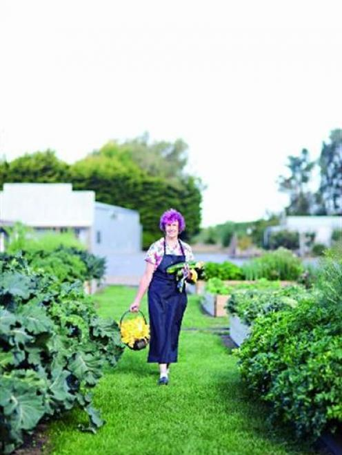 Dot Smith in the extensive gardens at the Riverstone complex, north of Oamaru. Photo by Fiona...