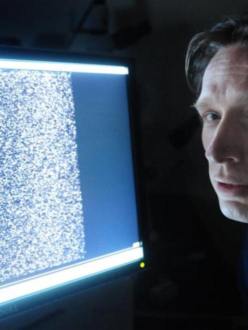 Dr Istvan Abraham, of the University of Otago Centre for Neuroendocrinology, ponders an image...