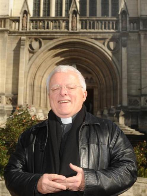 Dr Trevor James outside St Paul's Cathedral, where he will be installed tomorrow as its 12th dean...
