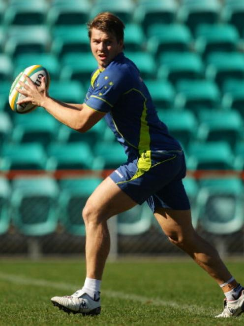 Drew Mitchell takes part in a recent Wallabies training session at Leichhardt Oval in Sydney. ...