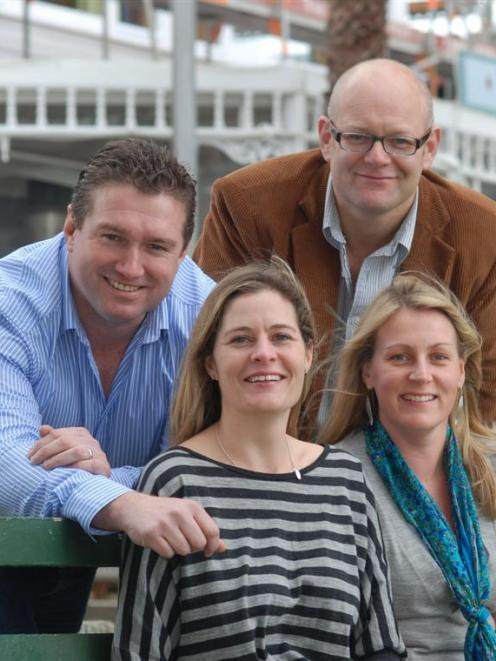 Duke of Marlborough Hotel owners (from left) Anton Haagh,  Bridget Haagh, Riki Kinnaird and ...