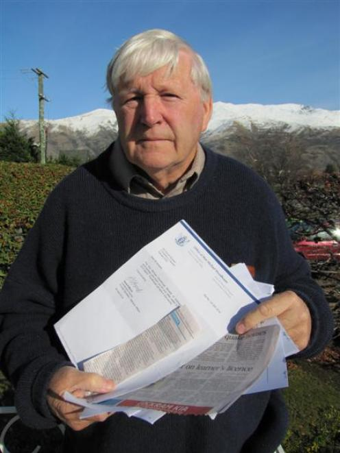 Duncan Boswell, of Wanaka, is gathering material to support his complaint to the Ombudsman over...
