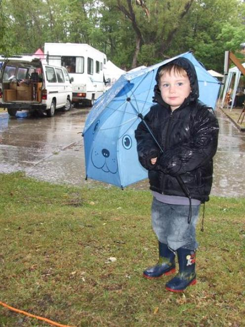 Duncan Fulcher (3), of Becks, was at the St Bathans Village Fete yesterday and, although the...