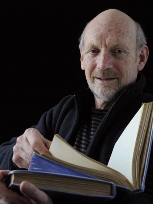 Dunedin author of Seabird Genius Neville Peat with the unpublished work of seabird expert Lance...