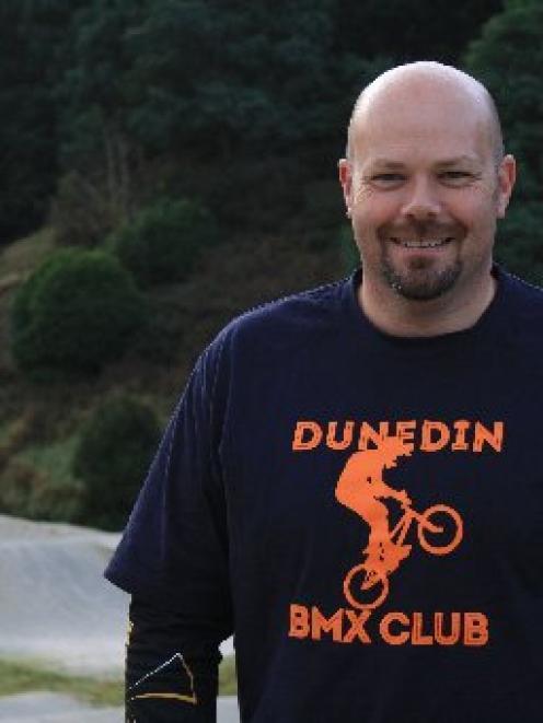 Dunedin BMX Club president Jason Wadsworth. Photo by Samantha McPherson.