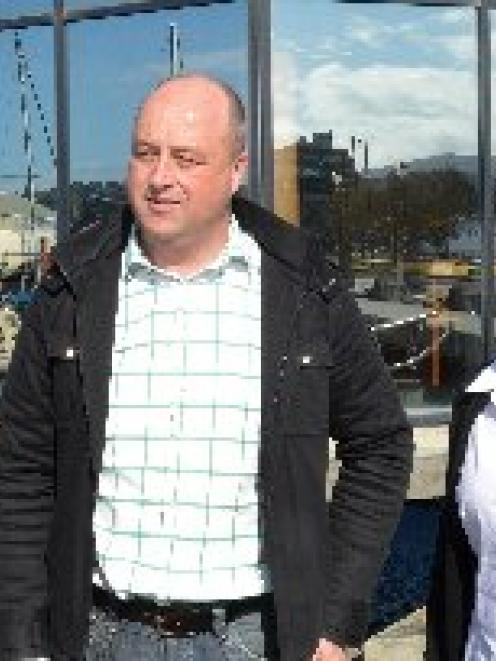 Dunedin businessman Barry Timmings, owner of the Harbourside Grill, and Paula Cooper, branch...